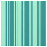 [ Thumbnail: Teal & Aquamarine Stripes Fabric ]