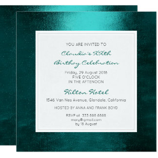 Teal Aquatic Tropical Green Birthday Party Card