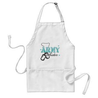 Teal Army Sister Aprons