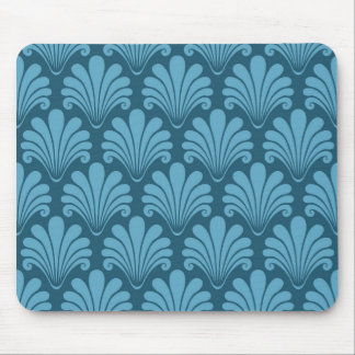 teal,art deco,shell,fan,pattern,chic,elegant,vinta mouse pad
