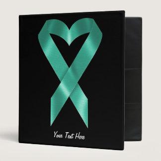 Teal Awareness Ribbon (customizable) Binder