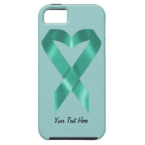 Teal Awareness Ribbon (customizable) iPhone SE/5/5s Case