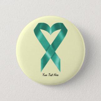 Teal Awareness Ribbon (customizable) Pinback Button