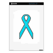 Teal Awareness Ribbon Decal For The iPad 2