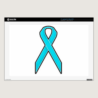 Teal Awareness Ribbon Decals For Laptops