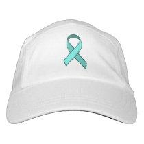 Teal Awareness Ribbon, Faith and Hope Hat