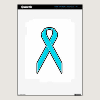 Teal Awareness Ribbon iPad 3 Skin