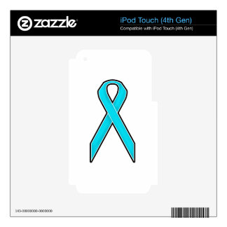 Teal Awareness Ribbon iPod Touch 4G Decal