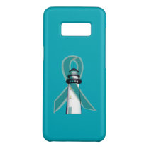 Teal Awareness Ribbon Lighthouse of Hope Case-Mate Samsung Galaxy S8 Case