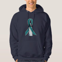 Teal Awareness Ribbon Lighthouse of Hope Hoodie