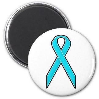 Teal Awareness Ribbon Magnet
