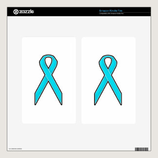 Teal Awareness Ribbon Skins For Kindle Fire
