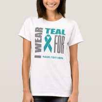 Teal Awareness Ribbon T-Shirt