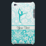 "Teal Ballet Case-Mate iPod Touch Case<br><div class=""desc"">You will love this cute teal damask ballet dance dancer dancing instructor design. Great for gifts! Available on tee shirts, smart phone cases, mousepads, keychains, posters, cards, electronic covers, computer laptop / notebook sleeves, caps, mugs, and more! Visit our site for a custom gift case for Samsung Galaxy S3, iphone...</div>"