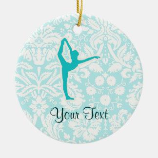 Teal Ballet Christmas Ornaments