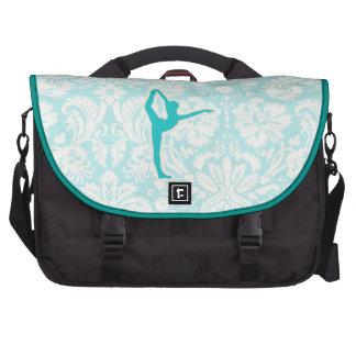 Teal Ballet Laptop Messenger Bag