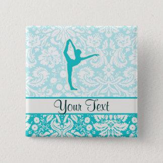 Teal Ballet Pinback Button