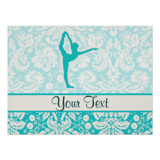 Teal Ballet Posters