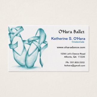Teal Ballet School Business Card