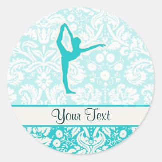 Teal Ballet Round Sticker