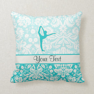 Teal Ballet Throw Pillow