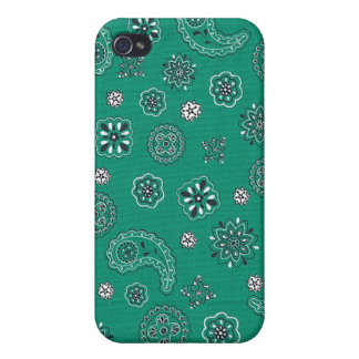 Teal Bandana iPhone Case Covers For iPhone 4
