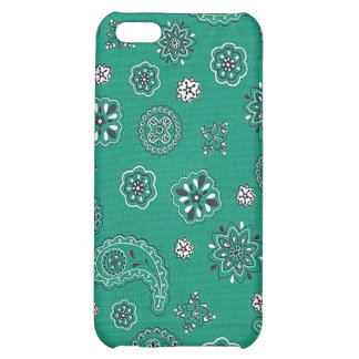 Teal Bandana iPhone Case Case For iPhone 5C