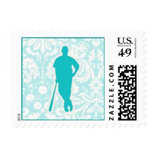 Teal Baseball Stamps