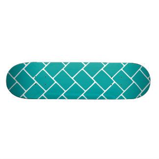 Teal Basket Weave Skateboard Deck