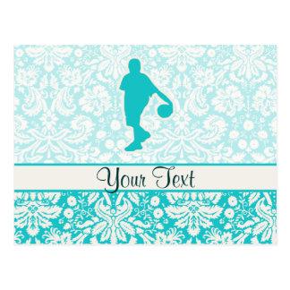 Teal Basketball Postcard
