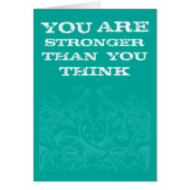 Teal Be Strong Card
