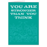 Teal Be Strong Stationery Note Card