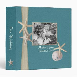 Teal Beach Starfish and Photos Binder