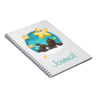 Teal Bear Spiral Notebook