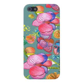 Teal Beauty Asian Design IPhone5 iPhone SE/5/5s Case