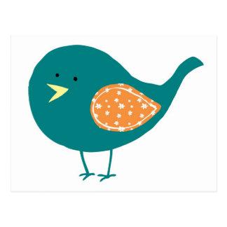 Teal Bird Post Card