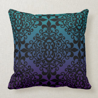 Teal And Black Decorative Pillows : Black And Teal Pillows - Decorative & Throw Pillows Zazzle