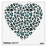 Teal Black Leopard Animal Print Pattern Wall Graphics