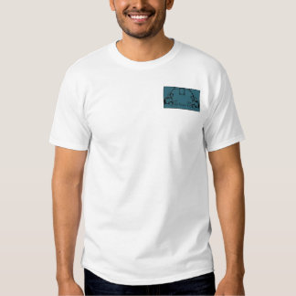 Teal & Black Monogram Filigree Tshirts