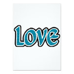 Teal & black stopped love personalized invitation