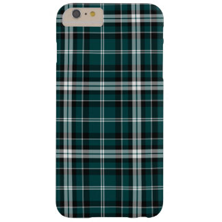 Teal Black & White Sporty Plaid iPhone 6 Plus Case