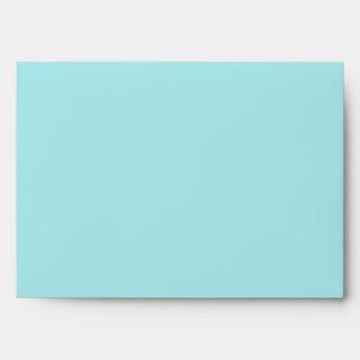 Teal Blue and Beige Linen Envelopes