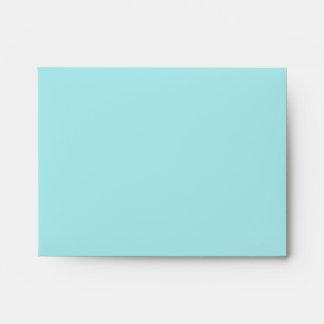 Teal Blue and Beige Linen RSVP Envelopes