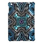 Teal Blue and Black  Geometric Art Case For The iPad Mini