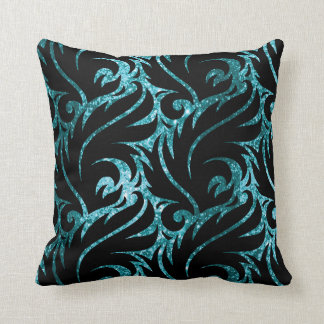 Black And Teal Pillows - Decorative & Throw Pillows Zazzle