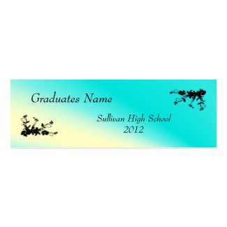 Teal Blue and Cream Elegant Profile Card Business Cards