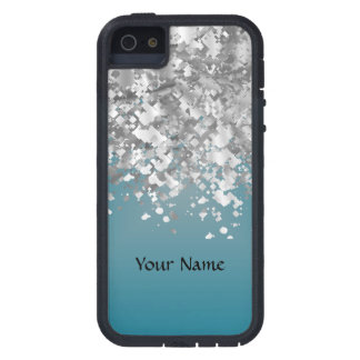 Teal blue and faux glitter case for iPhone SE/5/5s