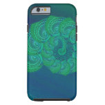 Teal, blue and green shell graphic. iPhone 6 case