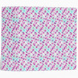 Teal Blue and Pink Abstract Floral Watercolor Binder