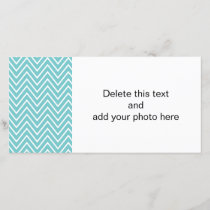 Teal Blue and White Chevron Pattern 2